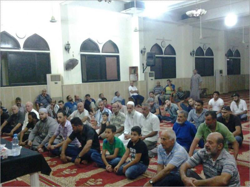 محاضرة دينية عن الهجرة النبوية في مسجد فلسطين بمخيم الرشيدية