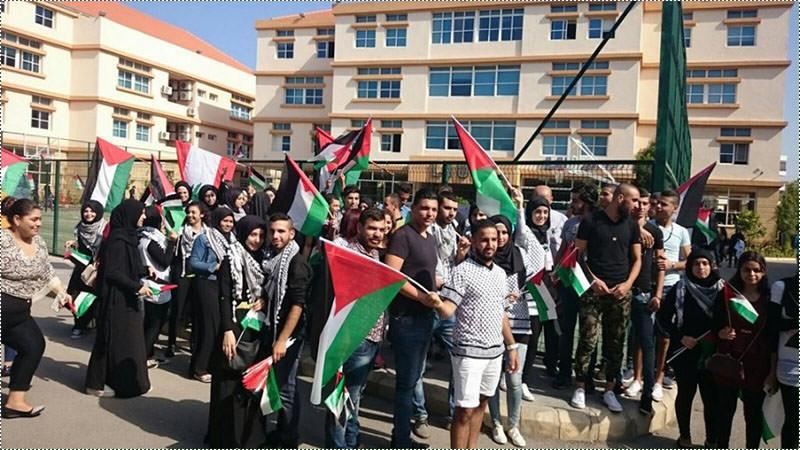 مهرجان وحفل خطابي دعماً لانتفاضة القدس في صور