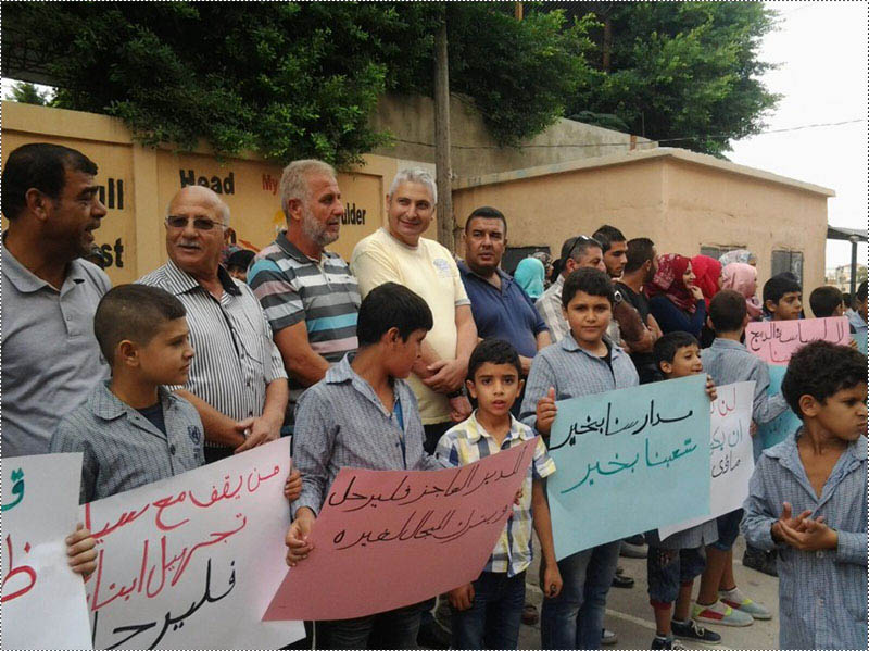 اعتصام في مخيم الرشيدية احتجاجاً على دمج الصفوف ونقص المعلمين