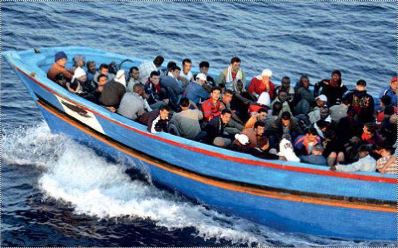 توقيف مركب على متنه 35 فلسطينياً يحاولون الهجرة لتركيا