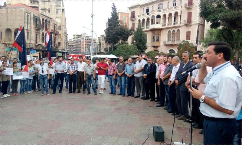 وقفة تضامنية دعماً لانتفاضة القدس في طرابلس