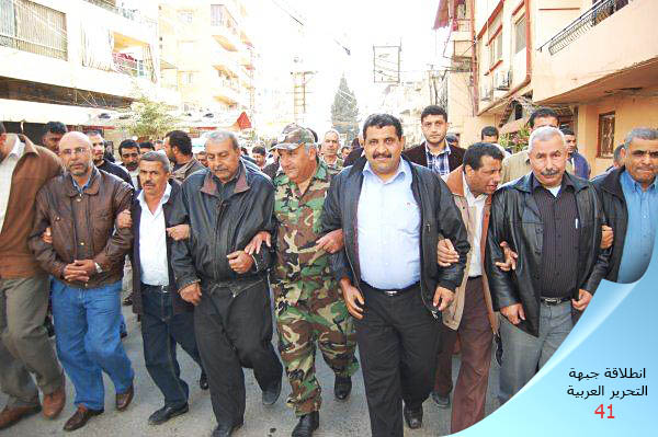 وضع اكاليل على اضرحة الشهداء في مخيم البداوي بذكرى انطلاقة جبهة التحرير العربية