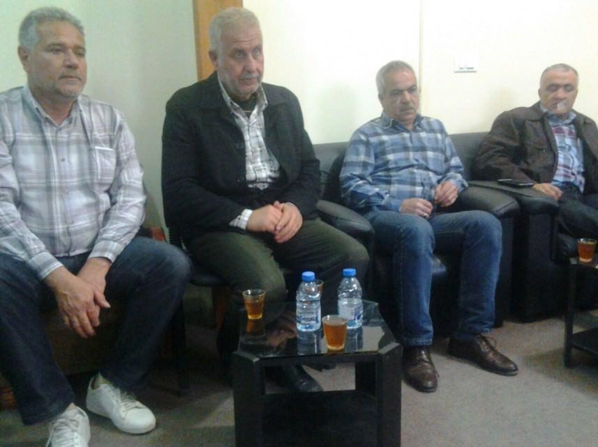 وفد من جمعية الهلال الفلسطيني يزور الجهاد في مخيم الرشيدية