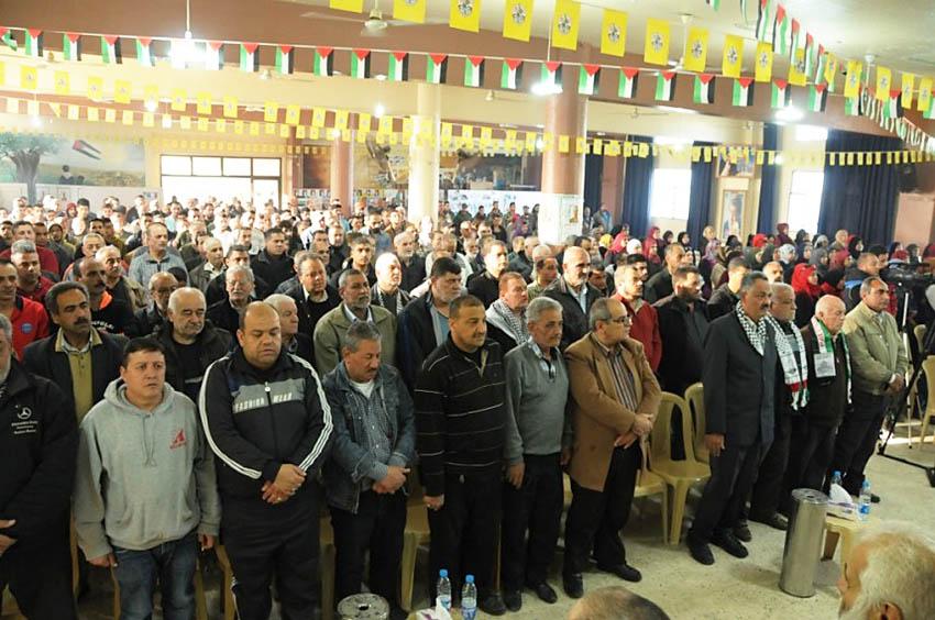 حركة فتح تحيي يوم الأرض في مخيم البداوي والبص