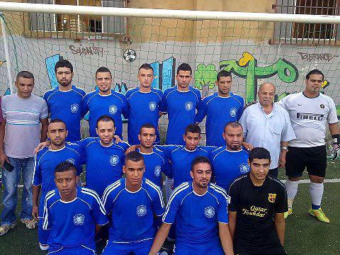 فوز نادي القدس على النضال على ارض ملعب فلسطين في مخيم البداوي