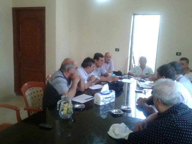 اجتماع في مقر اللجنة الشعبية مع إدارة جمعية الهلال الأحمر في مخيم البارد