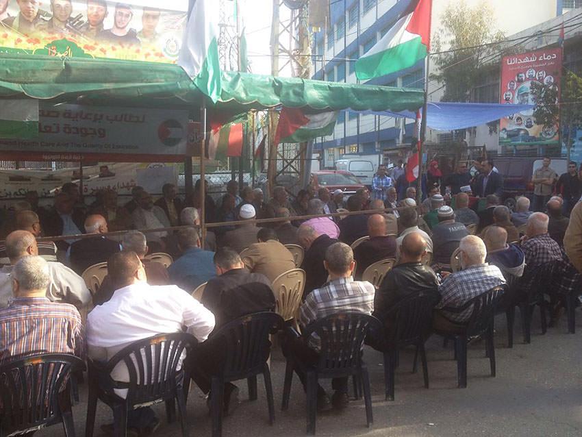لقاء لبناني - فلسطيني في خيمة مخيم البص رفضا لقرارات الأونروا