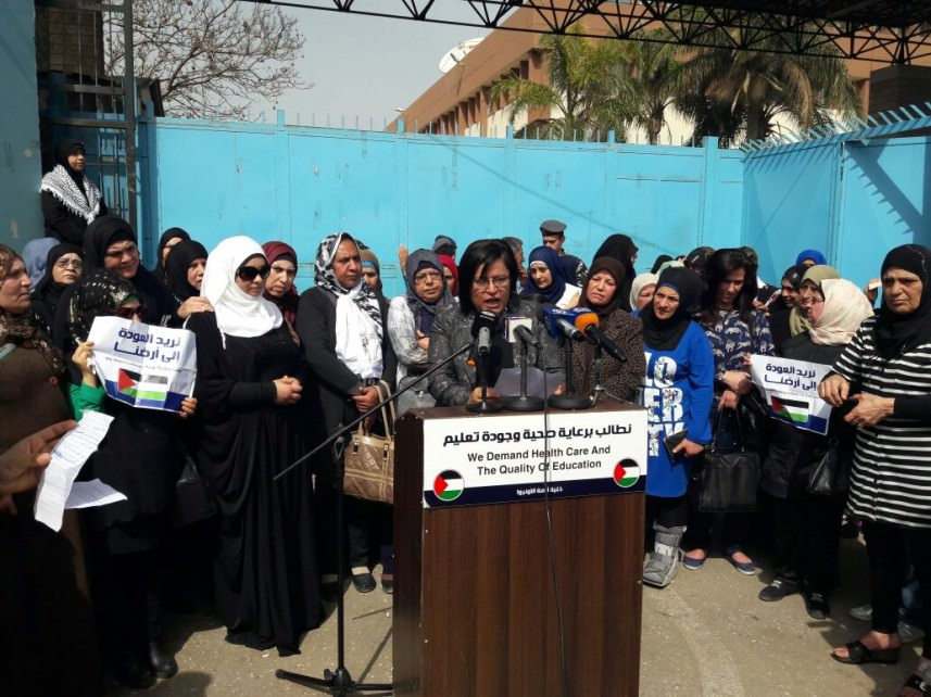 القطاع النسائي الفلسطيني يحذر الأونروا من الإستهتار بصحة وحياة شعبنا