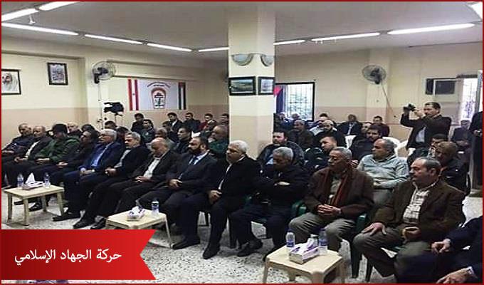 الجهاد ينظم لقاءً تضامنياً مع انتفاضة القدس في مخيم البداوي