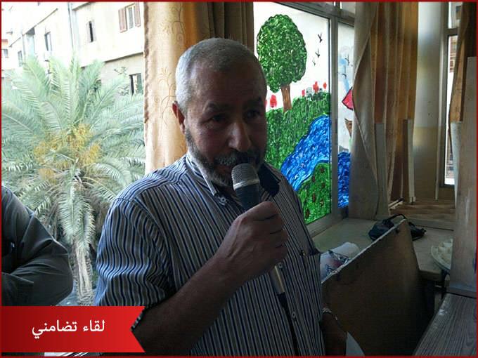 لقاء تضامني مع اهلنا في غزة بمخيم البداوي