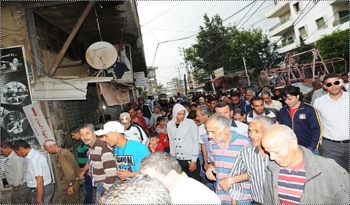 مسيرة كشفية بمناسبة يوم النكبة في مخيم البداوي