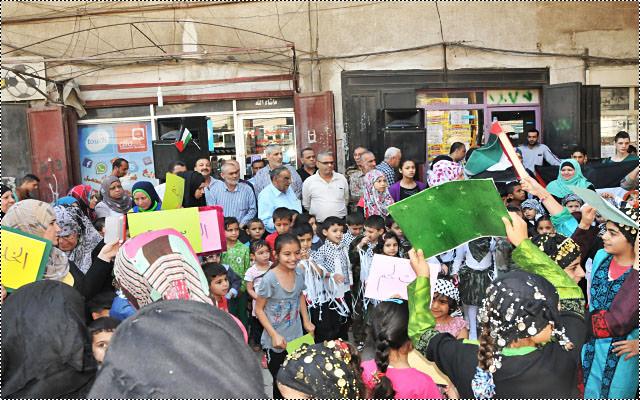 رياض الأطفال في مخيم البداوي تحيي ذكرى النكبة