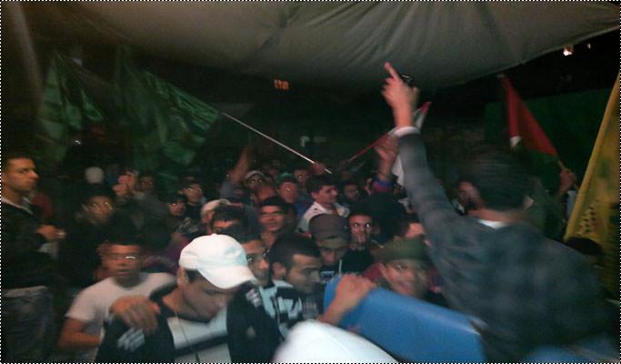 مسيرات في مخيم البداوي ابتهاجاً بنصر المقاومة الفلسطينية