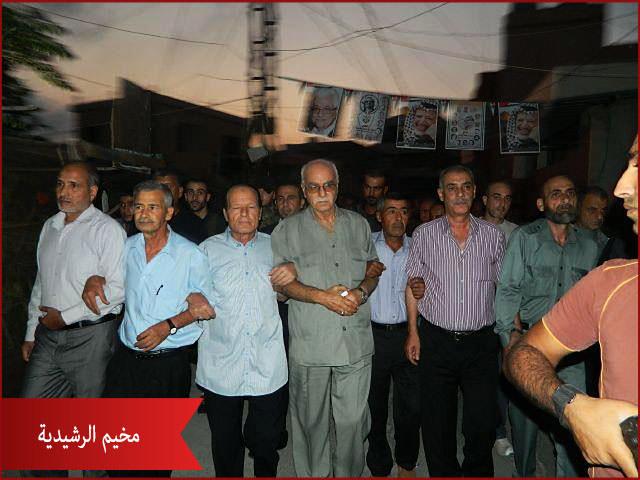 حركة فتح تكلّل أضرحة الشهداء في الرشيدية صبيحة عيد الفطر المبارك