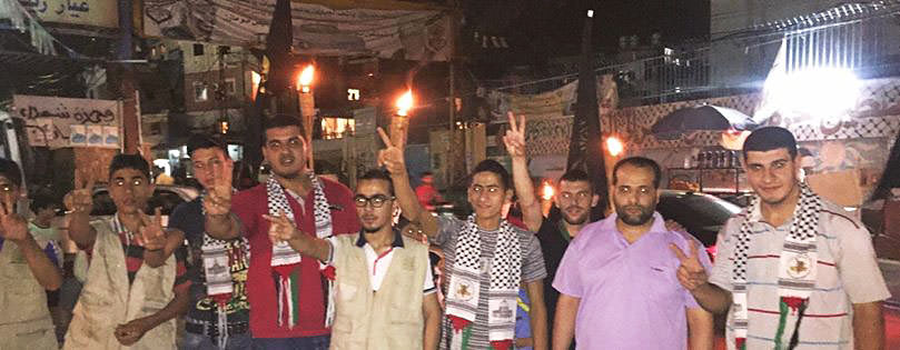مسيرة في مخيم البداوي إحتفاء بإطلاق الأسير خضر عدنان