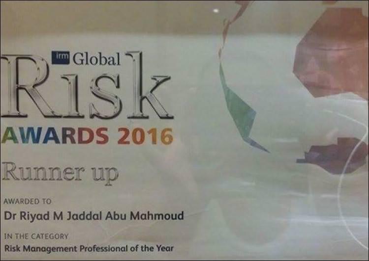 فلسطيني يحصد لقب رجل إدارة المخاطر عالمياً