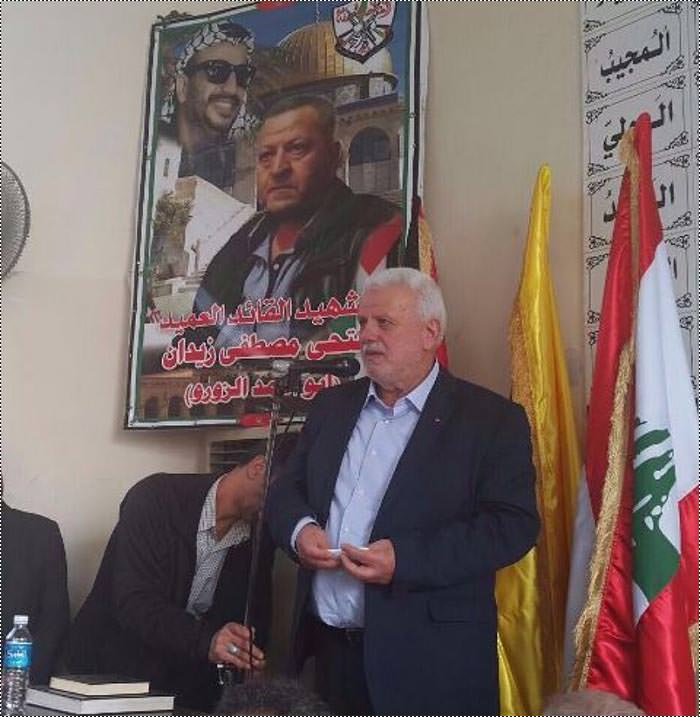 منظمة التحرير وفتح تؤبنان العميد زيدان في صيدا
