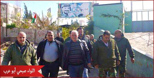 زيارة تفقدية للواء أبو عرب لمخيم البداوي