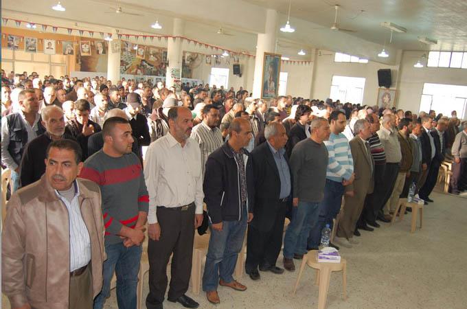 حركة فتح تحيي ذكرى الكرامة ويوم الارض في مخيم البداوي