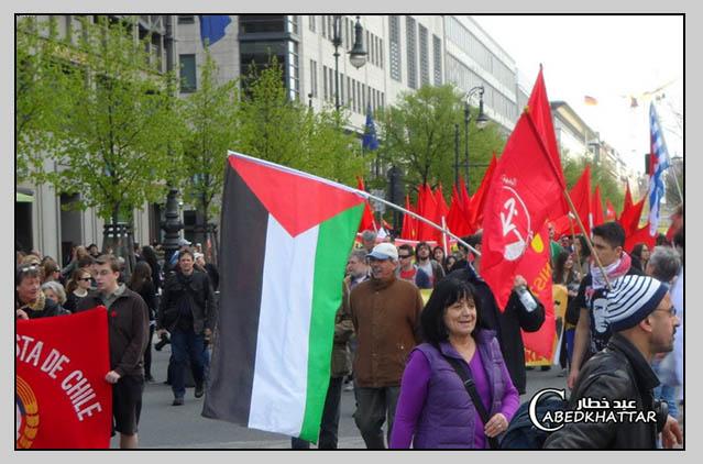 مشاركة لجان فلسطين الديمقراطية بإحتفالات الاول من ايار