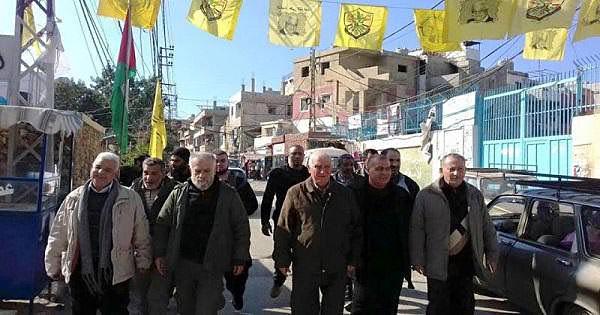 اللواء صبحي أبو عرب تفقد مخيم البداوي