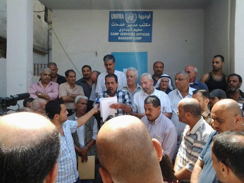 اغلاق مكتب الأونروا في مخيم البداوي احتجاجاً على تقليص خدمات الاستشفاء
