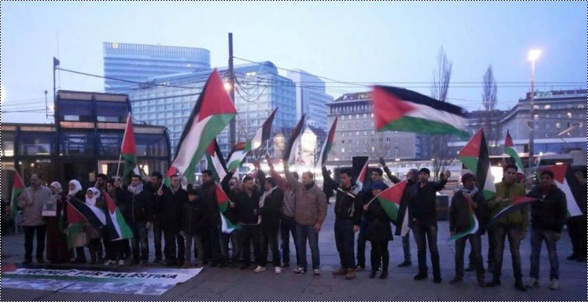 وقفة تضامنية مع الأسرى الفلسطينيين بذكرى يومهم في فيينا