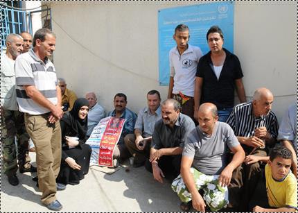 مخيم البداوي / اعتصام مرضى الكلى