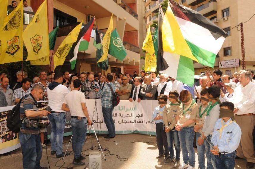 اعتصام مشترك لحركة فتح وحماس في طرابلس تضامناً مع الأسرى