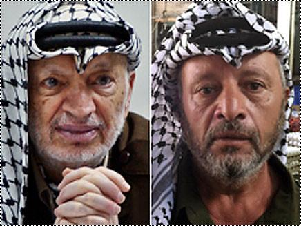 شبيه ياسر عرفات بائع خضار بشهرة نجوم السينما