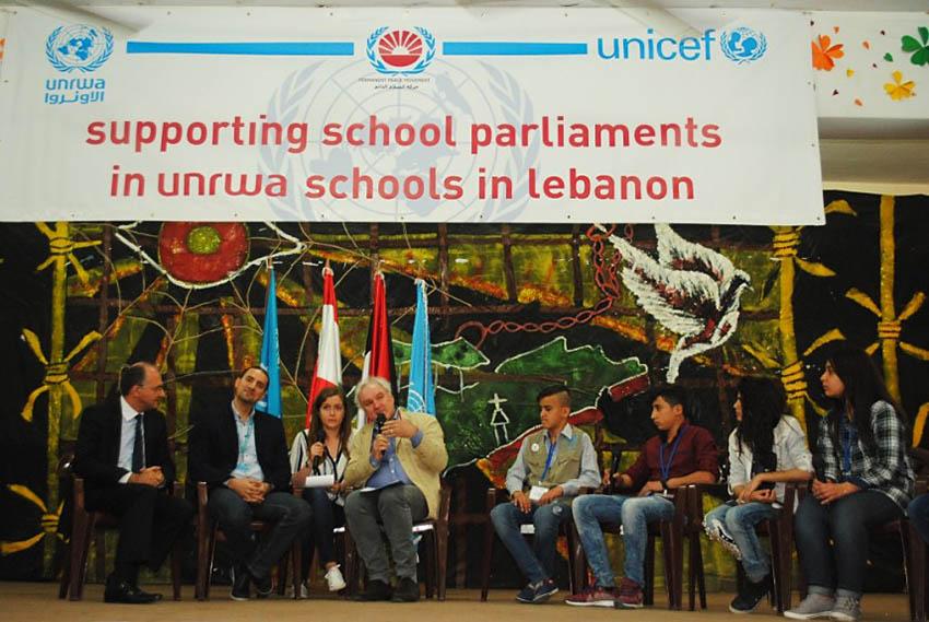 احتفال باختتام مشروع دعم برلمانات مدارس الأونروا في لبنان