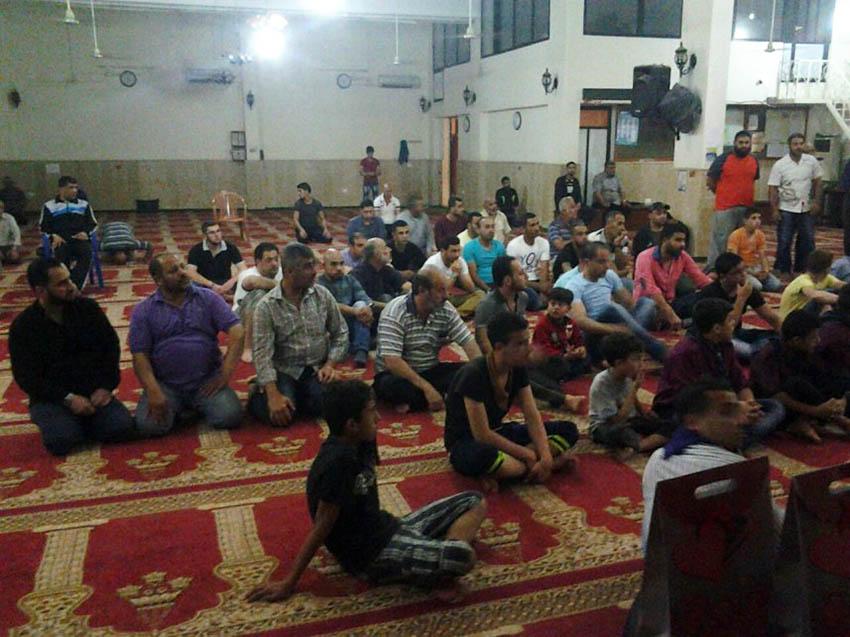 اللجنة الدعوية تقيم محاضرة عن غزوة تبوك في مخيم الرشيدية