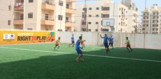 تحسين البنية التحتية لكرة القدم في مخيم البداوي ومخيم نهر البارد