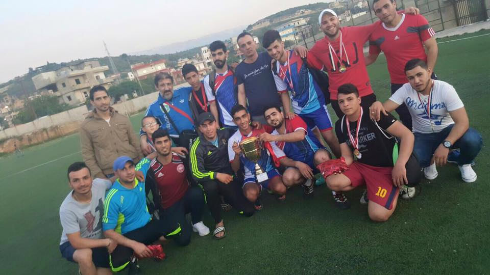 دورة رياضية بكرة القدم احياءا لذكرى يوم الارض في محافظة الشمال