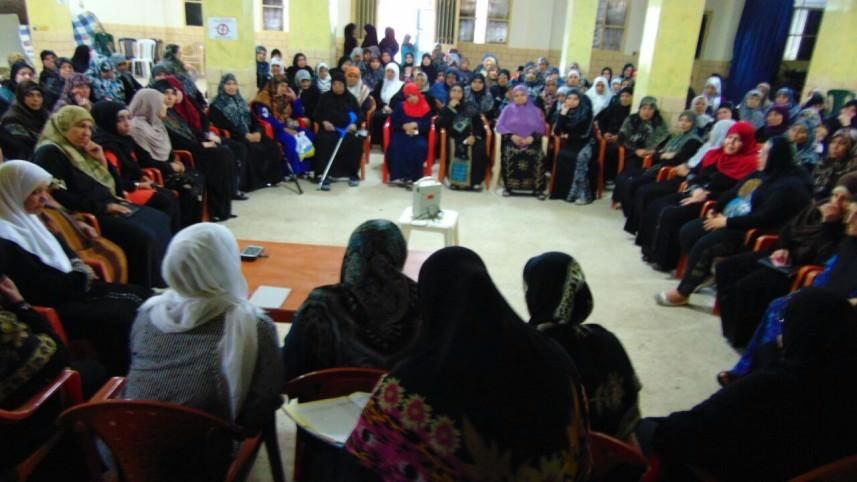 الهيئة النسائية لحركة الجهاد تقيم ندوة صحية في مخيم برج الشمالي
