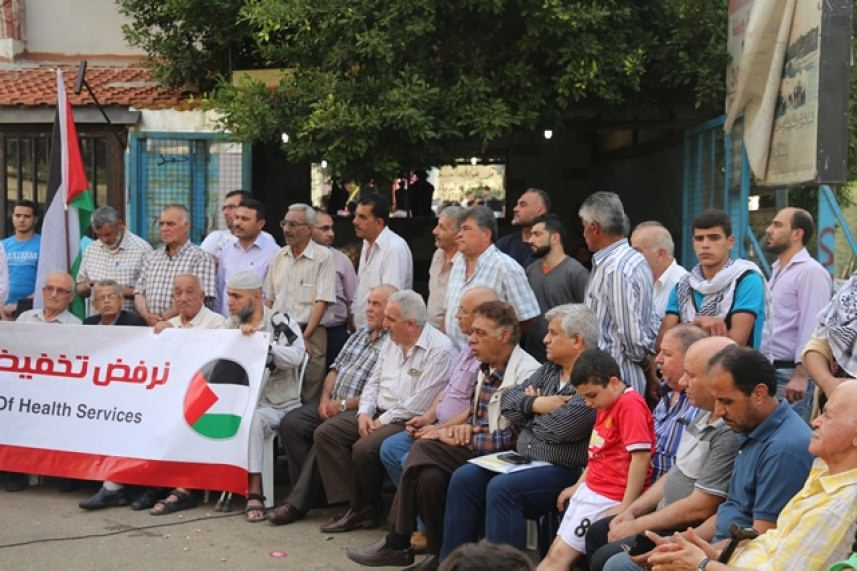 اعتصام في وادي الزينة احتجاجاً على تقليصات الأونروا