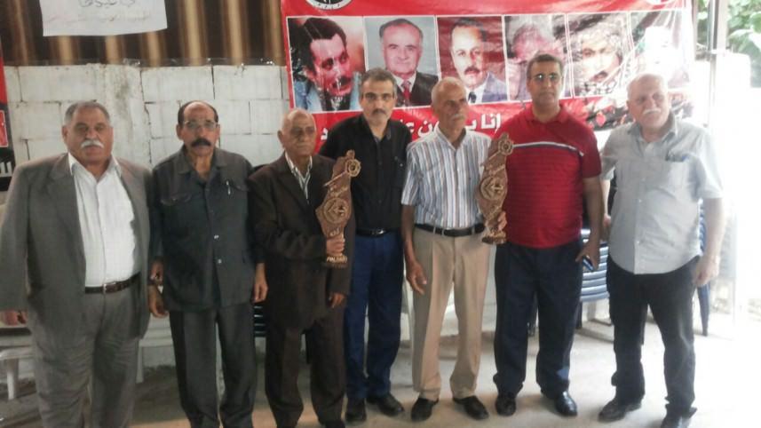 اللجان العمالية الشعبية الفلسطينية كرمت نقابيين