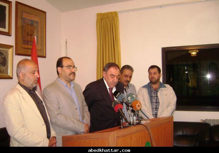 زار وفد من القيادة العامة النائب السابق وجيه البعريني في عكار