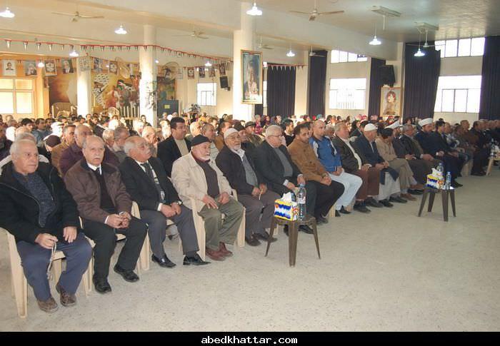 حركة فتح تحيي ذكرى المولد النبوي الشريف في مخيم البداوي [2012]