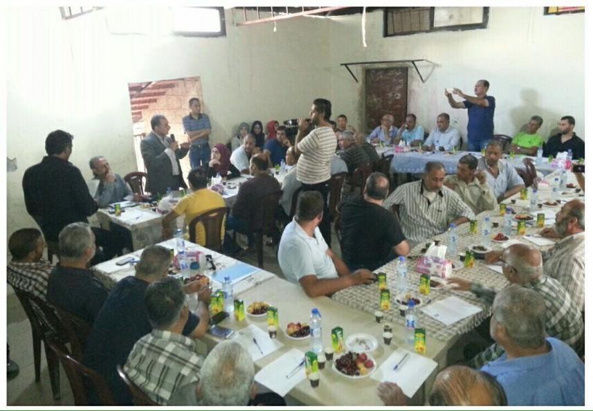 ندوة في مخيم عين الحلوة بعنوان [ من أجلِ حوار ناجح مع الأونروا ]