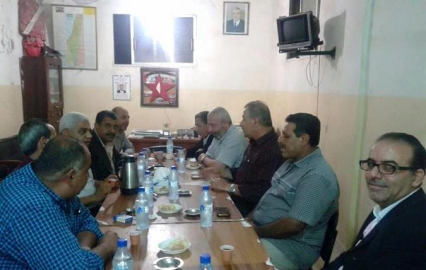 فتح تبحث والديمقراطية تطوير القوة الأمنية في مخيم البداوي