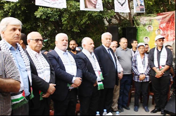 احتفال فلسطيني في ذكرى النكبة 68 في مخيم البص