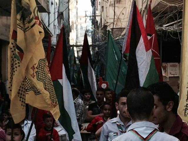 أقامت القيادة العامة مسيرة حاشدة في مخيم البداوي