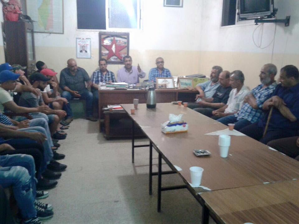 صلحة بين ال واكد وال ديب في مخيم البداوي