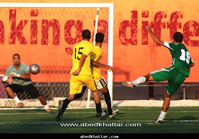 فريق النضال الرياضي بطل كأس الشهيد القائد أبو علي مصطفى في مخيم البداوي