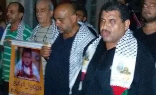 مسيرة تشييع رمزية للطفل علي الدوابشه في مخيم البداوي
