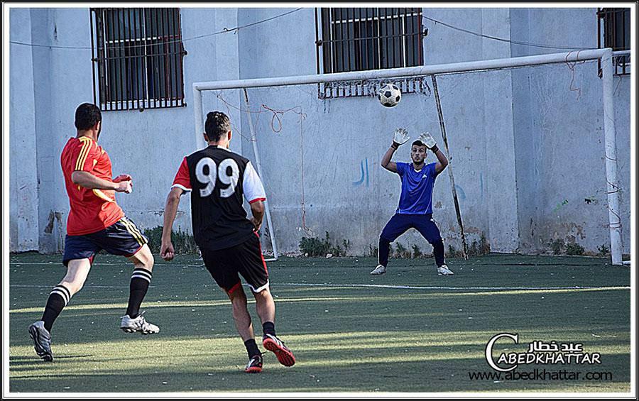 تعادل فريق نادي شبيبة فلسطين وفريق الدرة ضمن دوري شهر رمضان 2016
