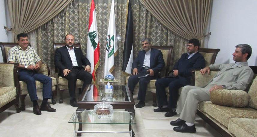 وفد دبلوماسي إيراني يلتقي علي بركة في بيروت