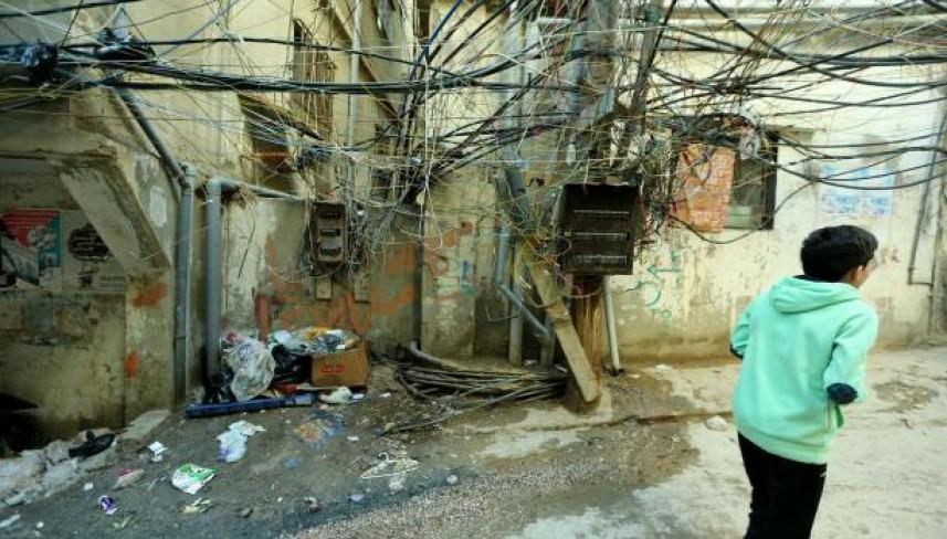 إزالة الأسلاك العنكبوتية في برج البراجنة اليوم وتنظيف مار الياس