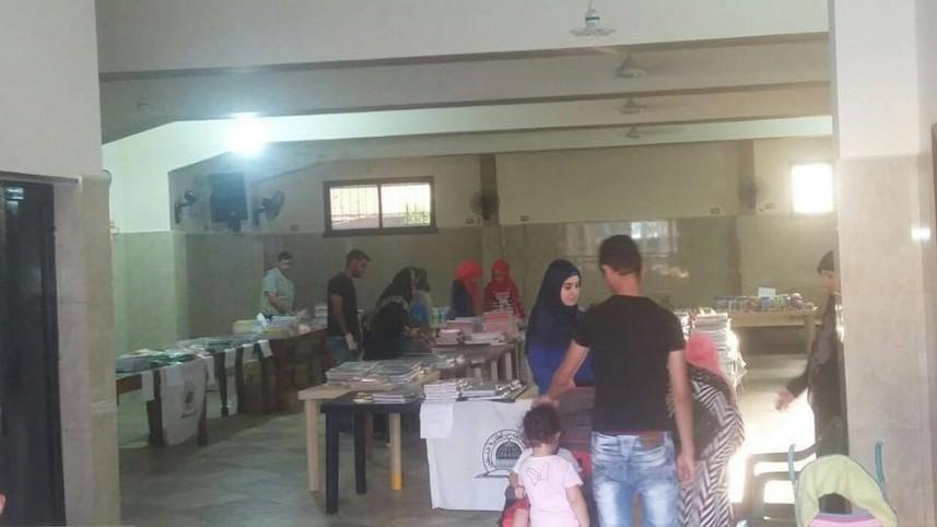 رابطة بيت المقدس تنظم معرض القرطاسية الثاني في مخيم نهر البارد